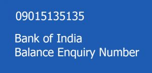 Bank of india balance enquiry number