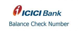 ICICI bank balance check number