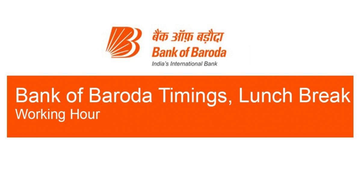 Bank of baroda timings