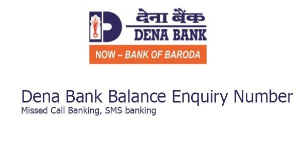 Dena bank balance check number