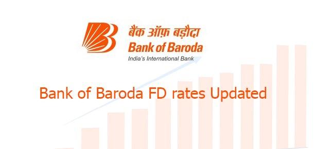 Bank of baroda FD rates