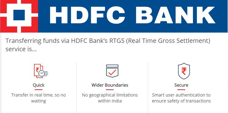 hdfc rtgs form