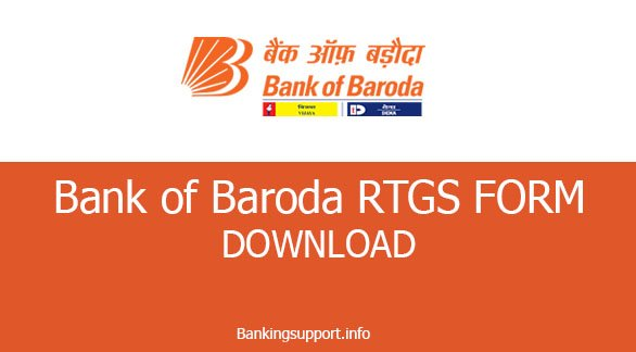 bank of baroda RTGS Form