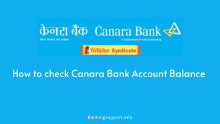 Canara Bank balance check Number