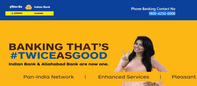 Indian bank Net Banking Login