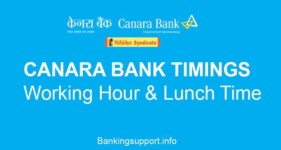 canara Bank timings