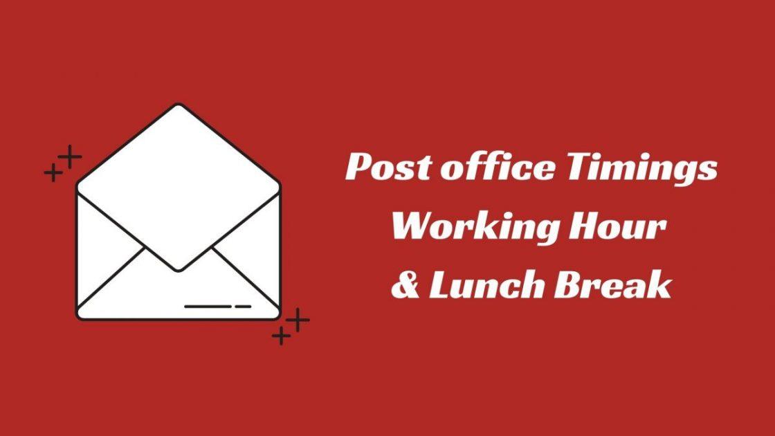 Post Office Timings