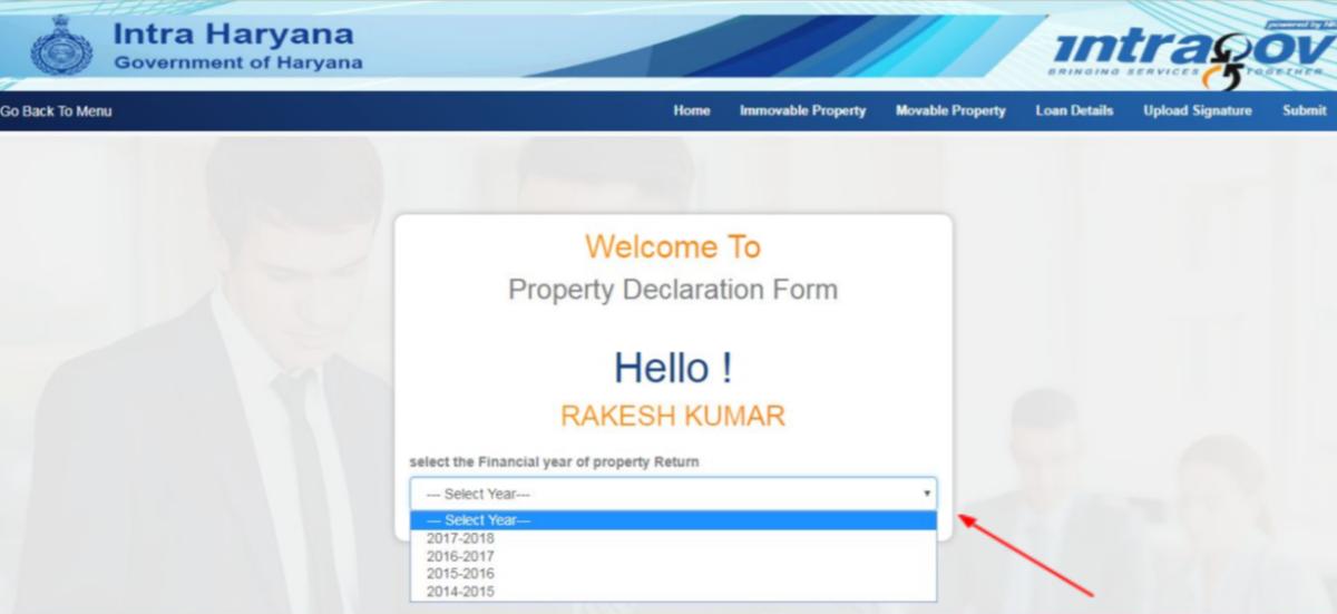 Annual Property Return on Intraharyana