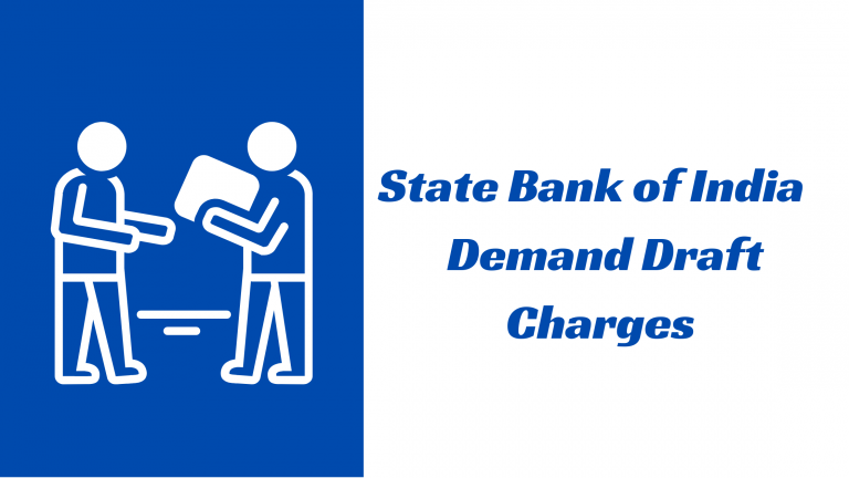 SBI DD Charges
