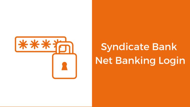 Syndicate Bank Login