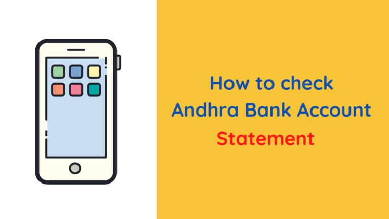 Andhra Bank statement