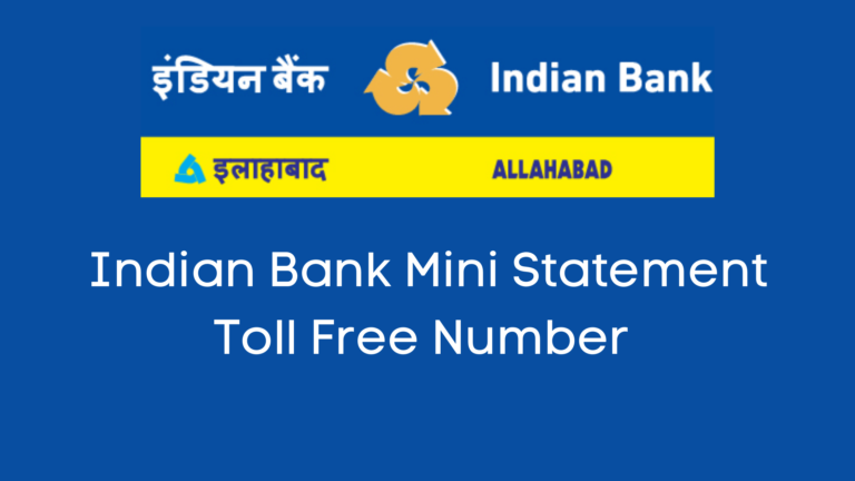 Indian bank mini statement number