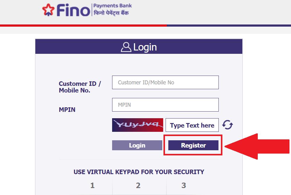 Fino Bank Net BankingRegistration